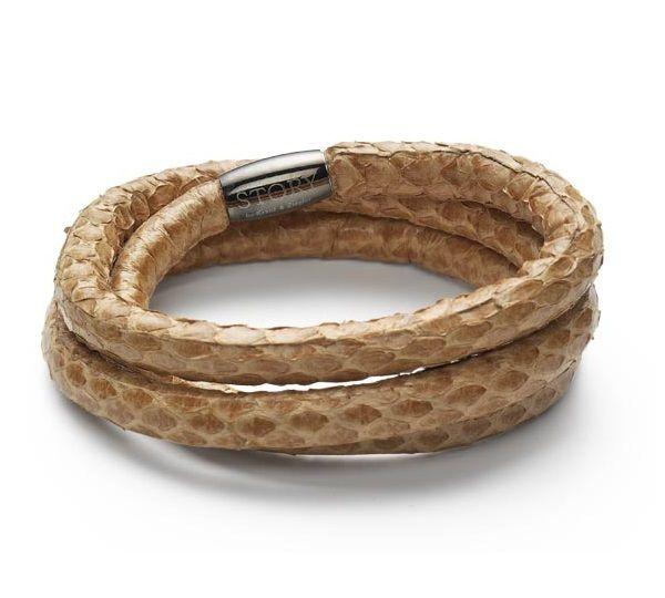 Kranz & Ziegler STORY Armbånd i slangeskind - sandfarvet
