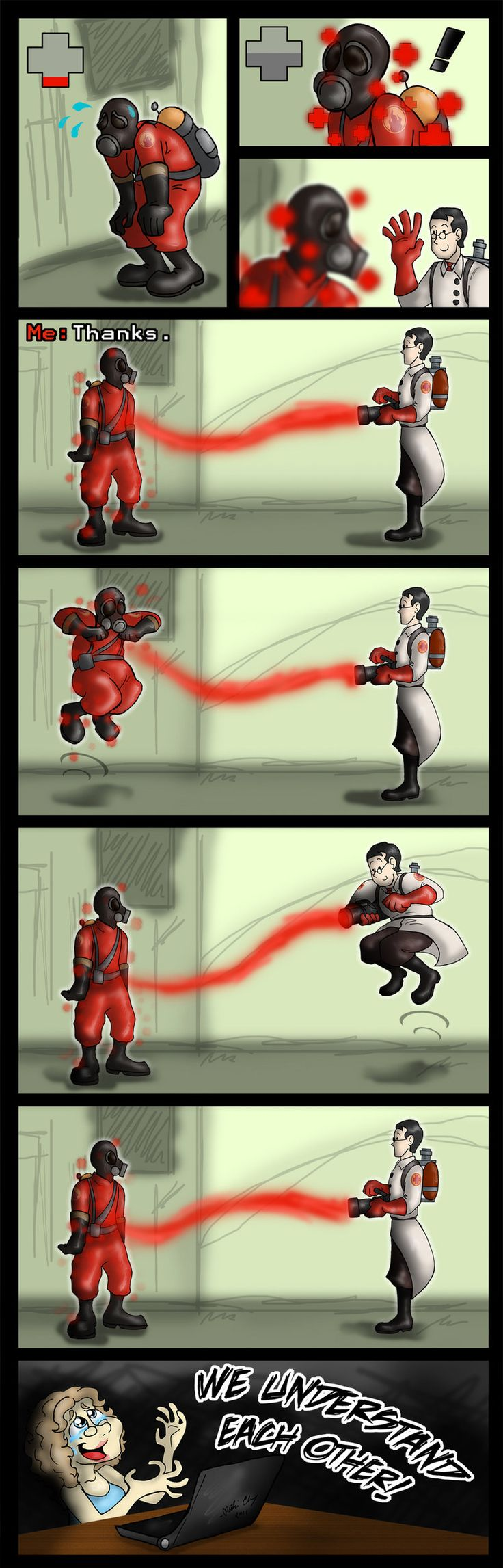 TF2 - Jump for Joy by *aliceapproved on deviantART. This is when you know you found someone good.
