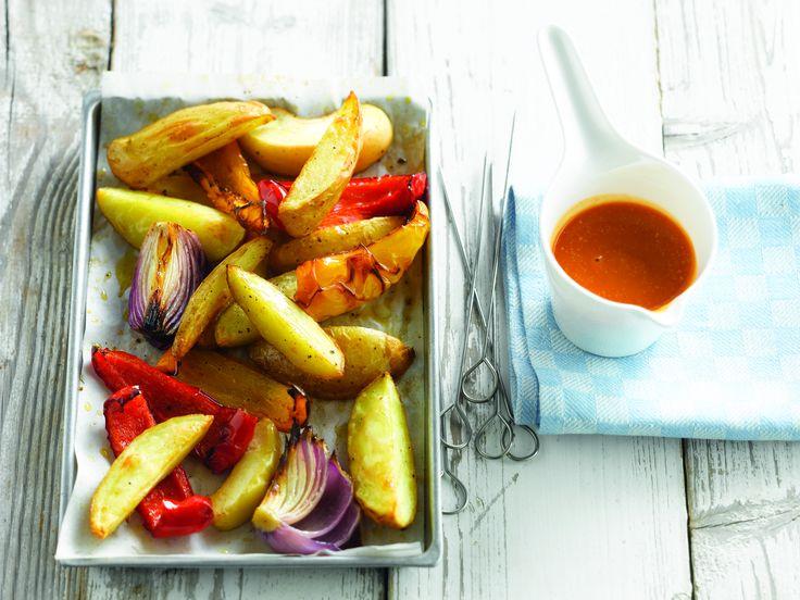 Aardappelen in de oven met barbecuesaus