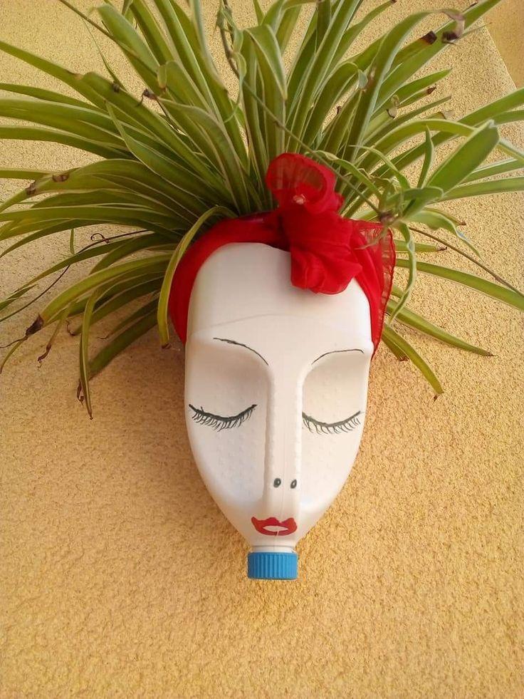 Pin by Trish Jones on cràfts   Garden crafts, Plastic bottle