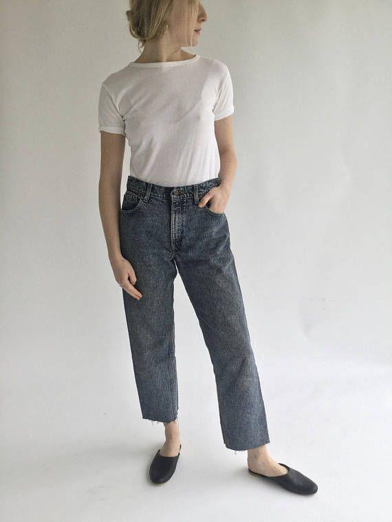 Vintage 30 31 Waist stonewash Levi 550 Jeans USA Made Medium
