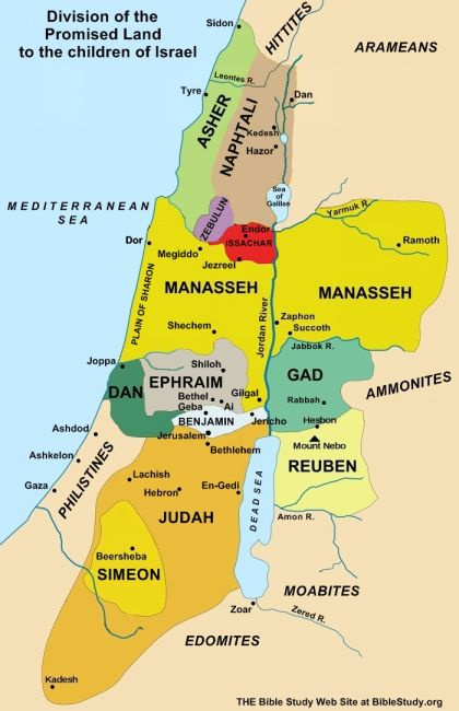 Division of Promised Land to the Children of Israel Manasseh is the USA and Ephraim is his younger brother Britian. Joseph was their father, Isaac was their grandfather and Abraham was their great grandfather. We have been blessed as seen in Genesis and Leviticus.