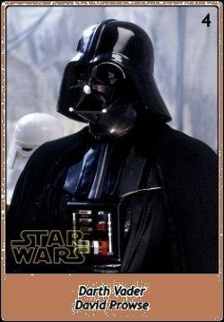 Darth Vader / David Prowse / Sebastian Shaw / James Earl Jones / Star Wars SW Cromos / Trilogía Clásica
