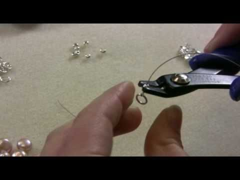 Artbeads.com Handy Tip Video - How to use crimp tubes. Learn how to use crimp tubes to finish off a piece of jewelry.