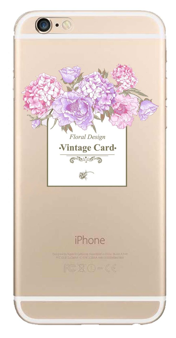 Whatskin DIY Style Color Drawing Flowers Series 06 Clear Back Cover for iphone 6