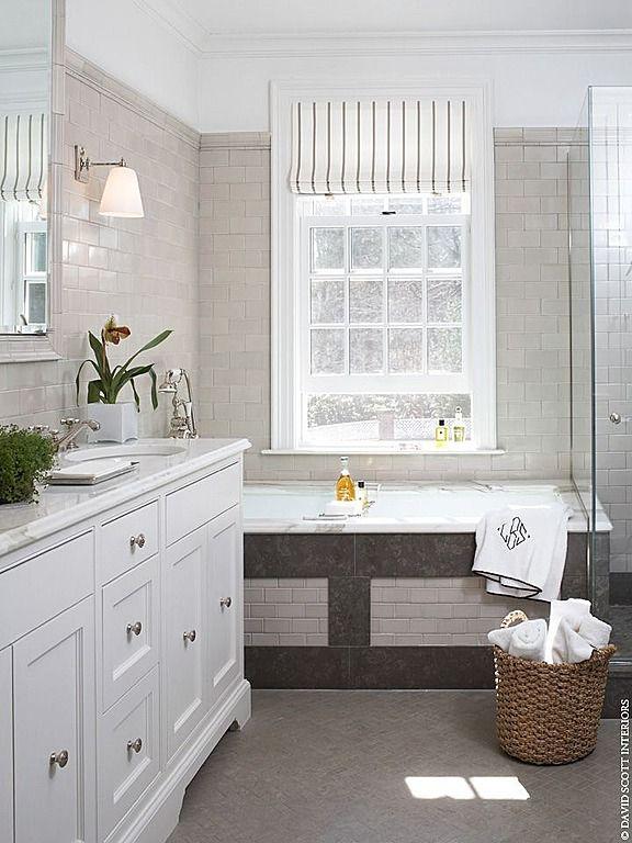 When accessorizing the bath go for items that will soften Accessorizing a small bathroom