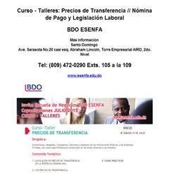 Curso - Talleres: Precios de Transferencia // Nómina de Pago y Legislación Laboral - Publicidad