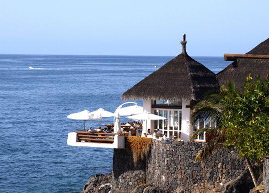 Las Rocas – Costa Adeje, Tenerife. Ten-erific! Dinner on the terrace watching the sun set.