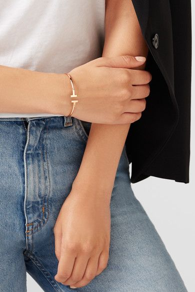 Tiffany & Co | T Wire 18-karat rose gold bracelet | NET-A-PORTER.COM