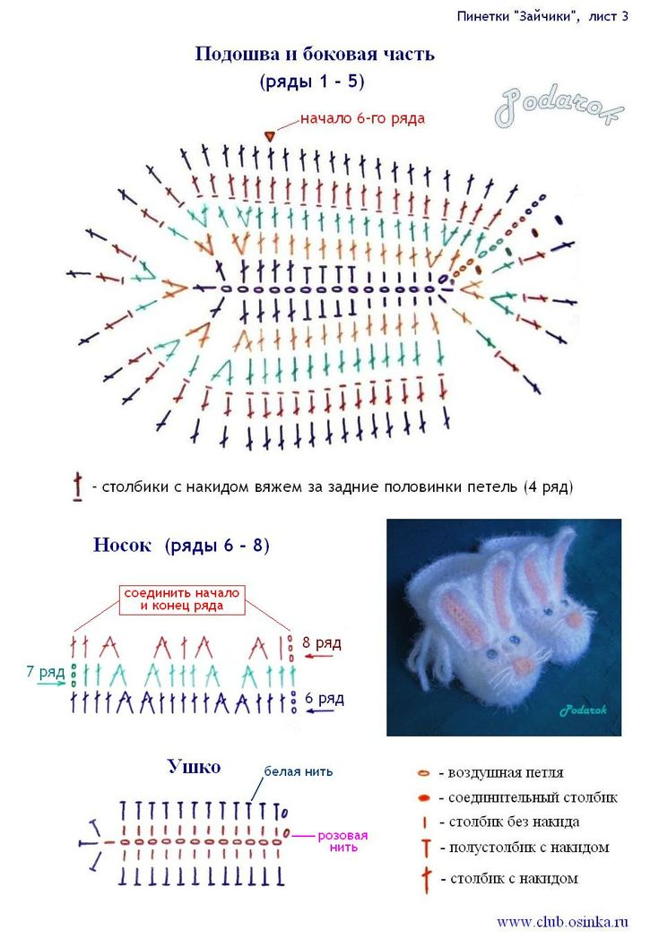 Схема вязание пинеток крючком картинки