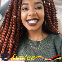 Hot Sale Havana Mambo Twist Crochet Braids Hair 22 Inch Beautiful Synthetic Crochet Twist Jumbo Braiding Hair Extensions