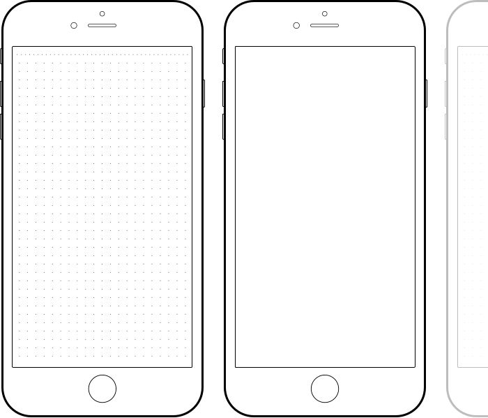 free blank iPhone template Wireframe template, Phone