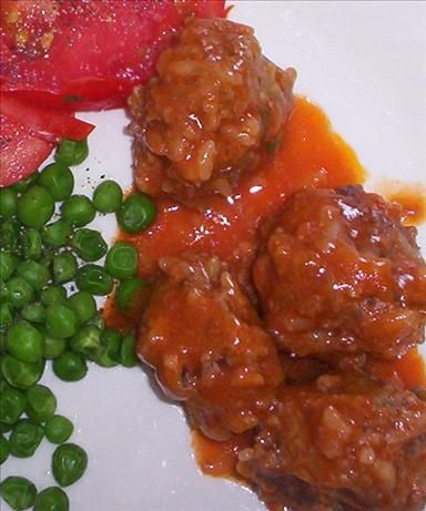Porcupine Meatballs....These were good. Not a one left and we are a family of three. Lol Made 6-25-13
