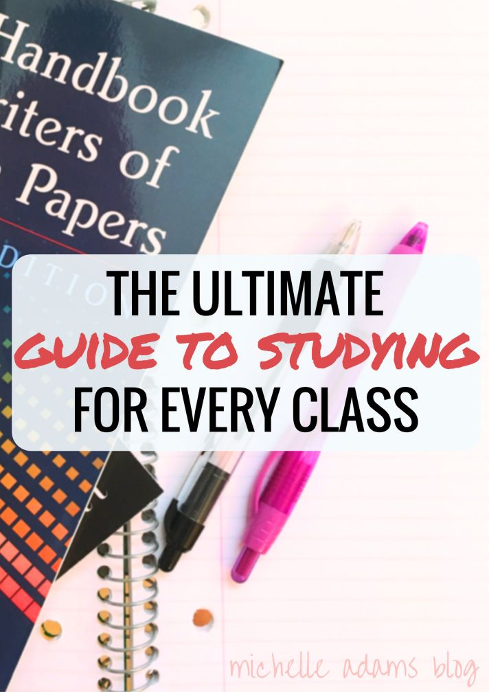 College Girl's Ultimate Guide to Studying! | Michelle Adams Blog for tests exams study books photo flatlay student girl math english essays science music mathematics major college major study tips studytips