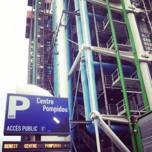 Photo INSTAGRAM. Arrêt au Centre Pompidou pour découvrir la communication sur les outils numériques de cette grande institution;