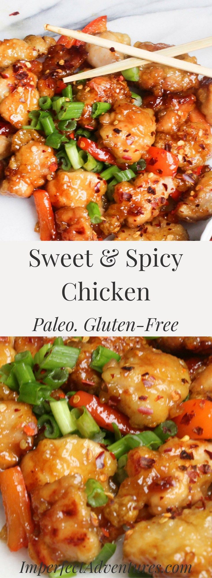 """""""Paleo Sweet & Spicy Chicken via Imperfect Adventures""""- Fitness 