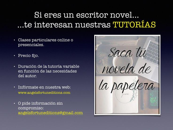 Perfecciona tu novela con nuestras tutorías.  Precio fijo. Clases particulares online o presenciales. Duración en función de tus necesidades. ¿Qué más se puede pedir?