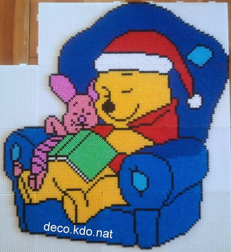 Christmas Winnie and Piglet hama perler beads by Deco.Kdo.Nat