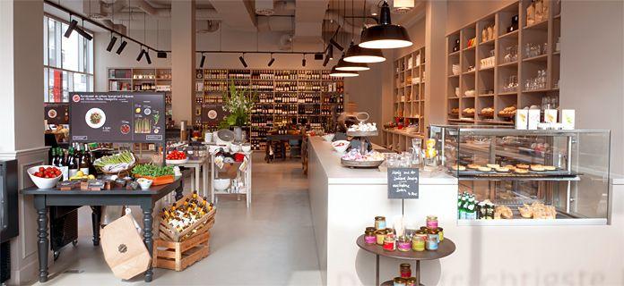 Kochhaus Hamburg Eimsbüttel - das Lebensmittelgeschäft, das sich konsequent dem Thema Selber-Kochen widmet und nicht mehr nach Warengruppen, sondern nach Rezepten sortiert ist.