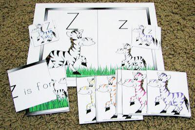 Letter Z/Zebra Preschool Theme (Mommy's Little Helper ...