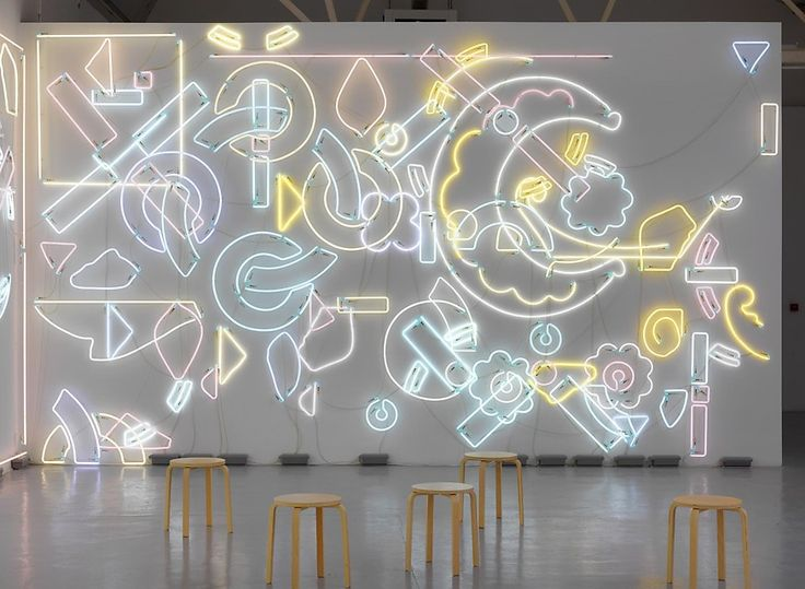 Genau or Never, 2012-2014, approx 540 pieces of neon, by Pae White.