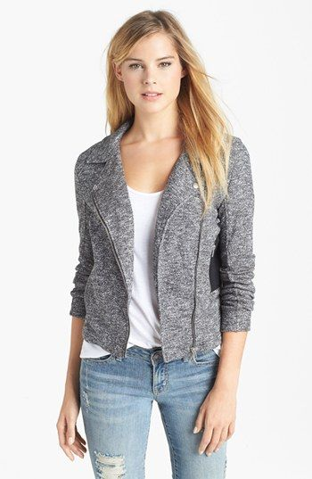 KUT from the Kloth 'Desert' Marled Knit Moto Jacket available at #Nordstrom It looks like a moto jacket but feels like a cardigan!
