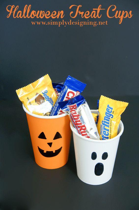 Lovely Halloween Treat Cups