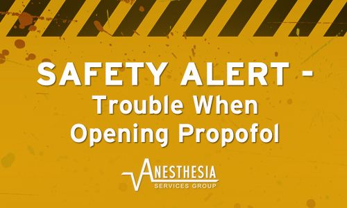 Have any trouble with ampules breaking off/shattering when opening Propofol? Head over to our blog to read the attached safety alert from Hospira.