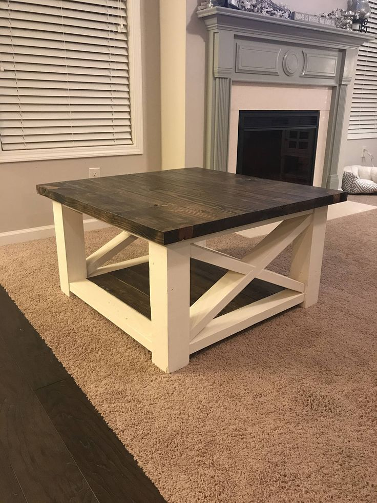 Farmhouse Coffee Table | Rustic Coffee Table | Solid Wood Farmhouse Coffee Table | Built to Order