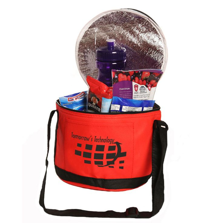"#TCB135 - Non-Woven Round Lunch Cooler Bag (6.25""H x 8.25""D)"