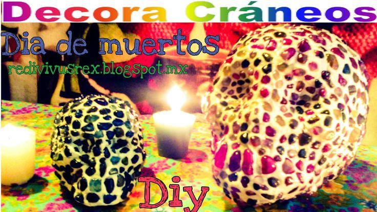 DIY/Artesanias/Día de Muertos decora un cráneo con cuarzos