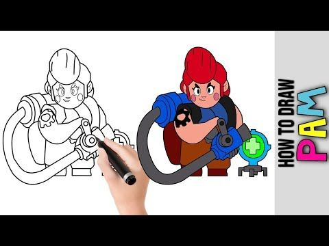 How To Draw Pam From Brawl Stars Cute Easy Drawings Tutorial For Beginners Best Brawlers Youtube Drawing Tutorial Easy Cute Easy Drawings Easy Drawings