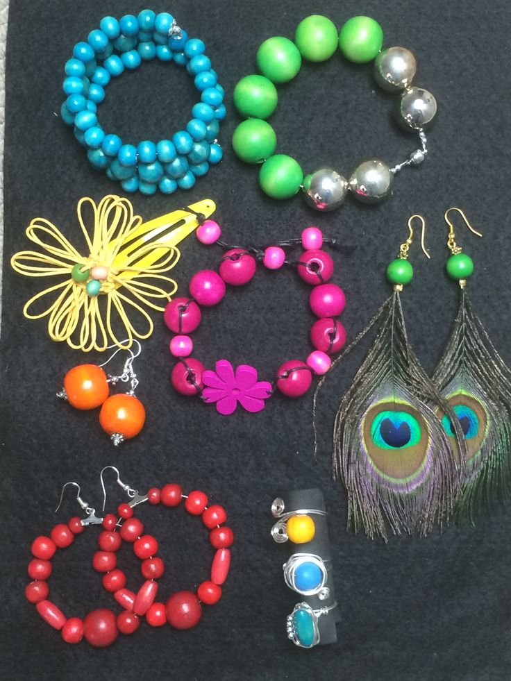 Colour your World with wood bead jewellery from dony-maree.com.au