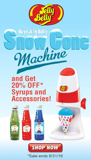 stay cool this summer with a jelly belly snow cone for a limited time save 20 on jelly belly syrups u0026 accessories when you buy a snow cone machine - Snow Cone Machine For Sale