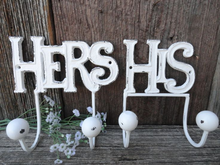 His hers wall hooks gold bathroom hook couples gift cast for His hers bathroom decor