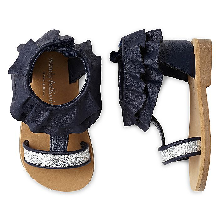 Wendy Bellissimo Infant Girls Isabella Navy Glitter Sandals