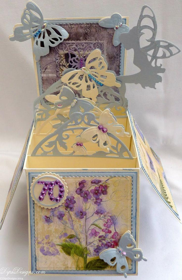 Card in Box Butterflies  Fairies Tonic Studios