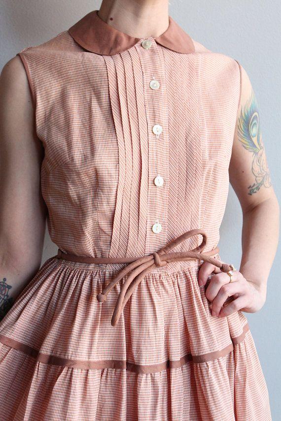 Late 1940s Dress // Sue Rosenfeld Day Dress // by dethrosevintage