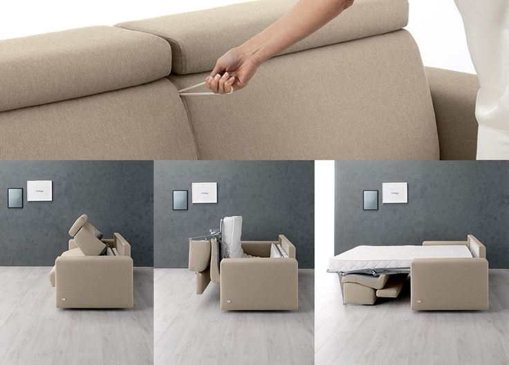 #doimosalotti Morris come aprire un #divanoletto trasformabile Doimo.
