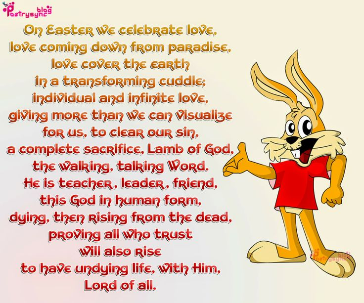 10 best easter day poems images on pinterest easter poems happy easter sunday holy week poem with bunny negle Images