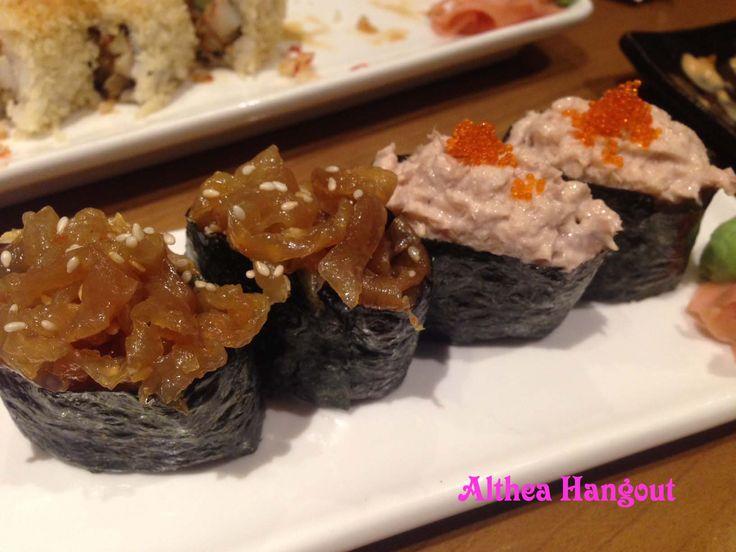 Resto : Miyagi, Nama : Tuna Salad Gunkan (Kanan), Harga : IDR 22.000,-