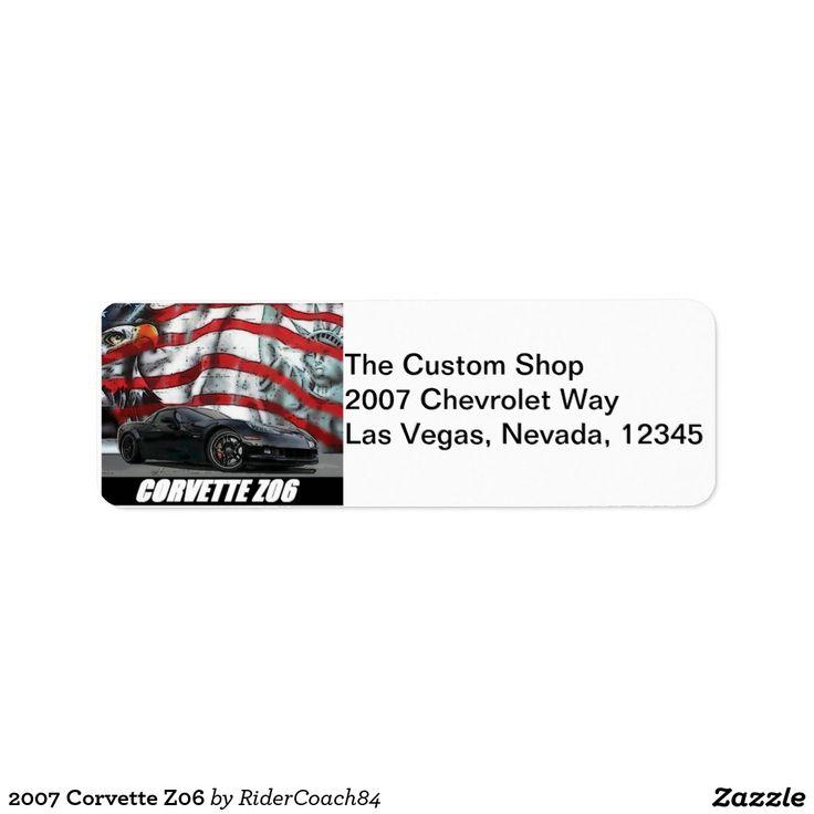 2007 Corvette Z06 Label