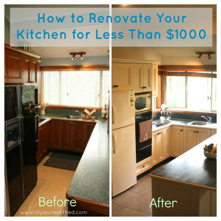 How to renovate your kitchen on a budget less than 1000 for Country kitchen remodel on a budget