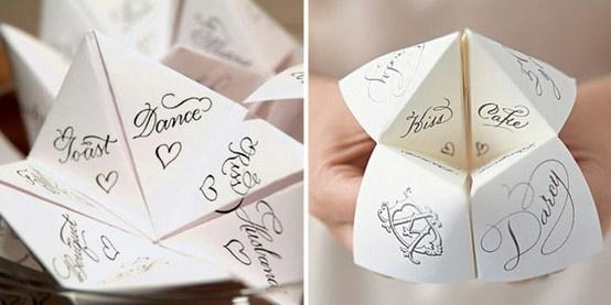 Wedding Chinese fortune teller! by Lemonade B via ruffledblog.com /indulgy/pinterest.