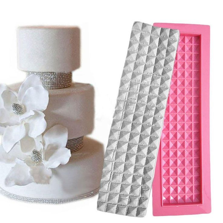 3D Square Diamond Shape Silicone Lace Molds Cake  Border Decoration Fondant Chocolate Kitchen Baking Cake Decorating Tools XL133