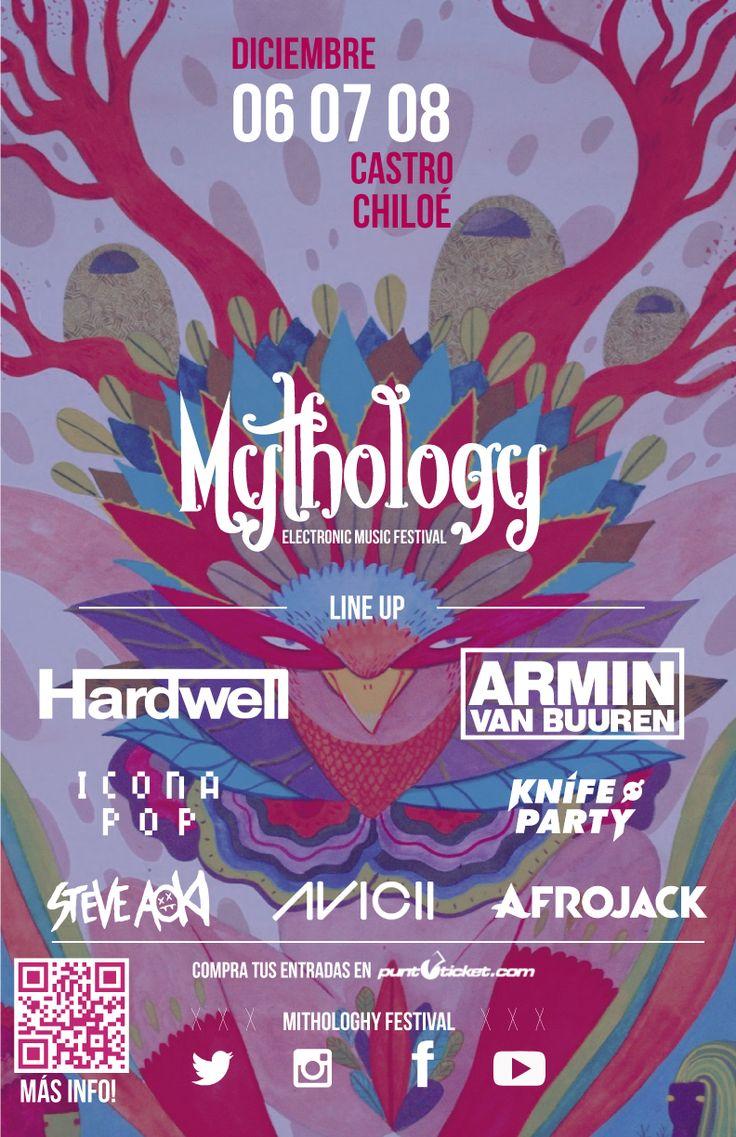 Afiche para festival 'Mythology' Diseño Corporativo.