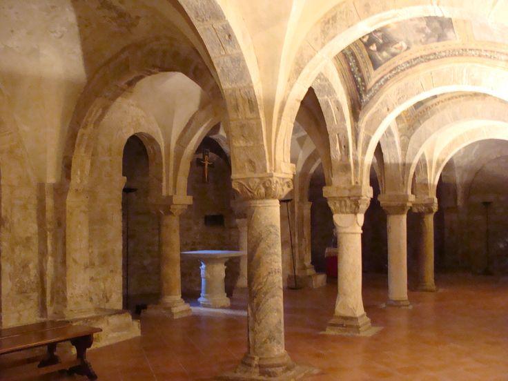 St. Adam's Crypt (XII-XIII century). Guglionesi, Italy.