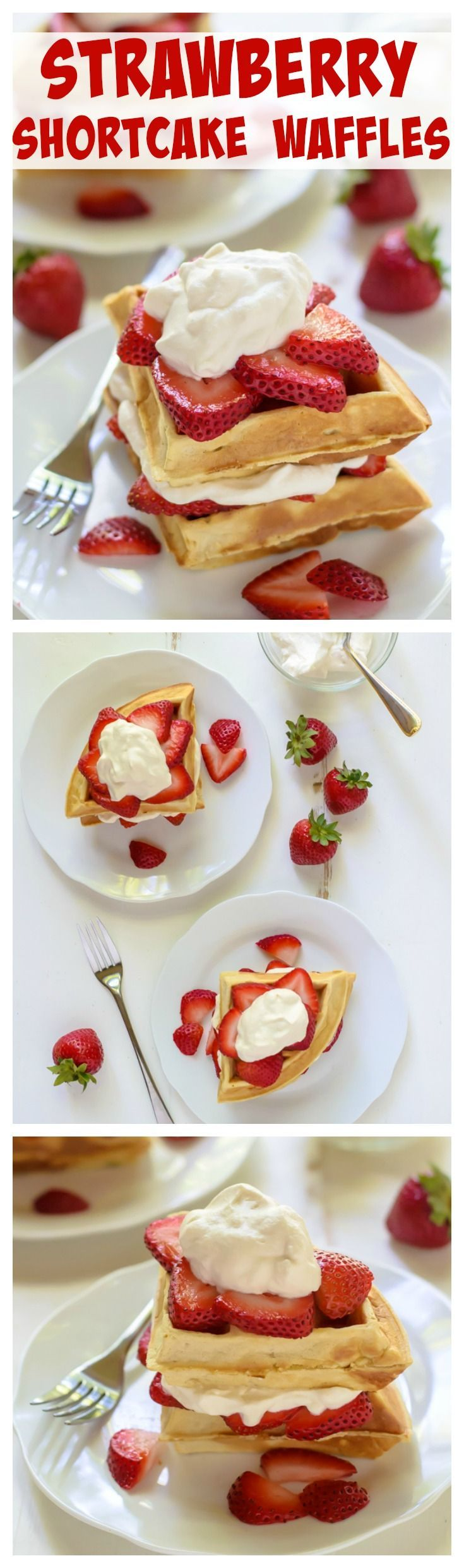 Strawberry Shortcake Waffles with Maple Whipped Cream