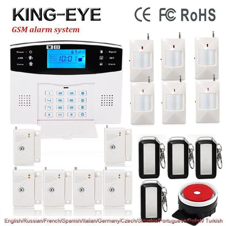 63.37$  Watch here  - Russian/French/Spanish voice prompt 433 Mhz wireless alarm systems security home kit PIR motion infrared detector door sensor