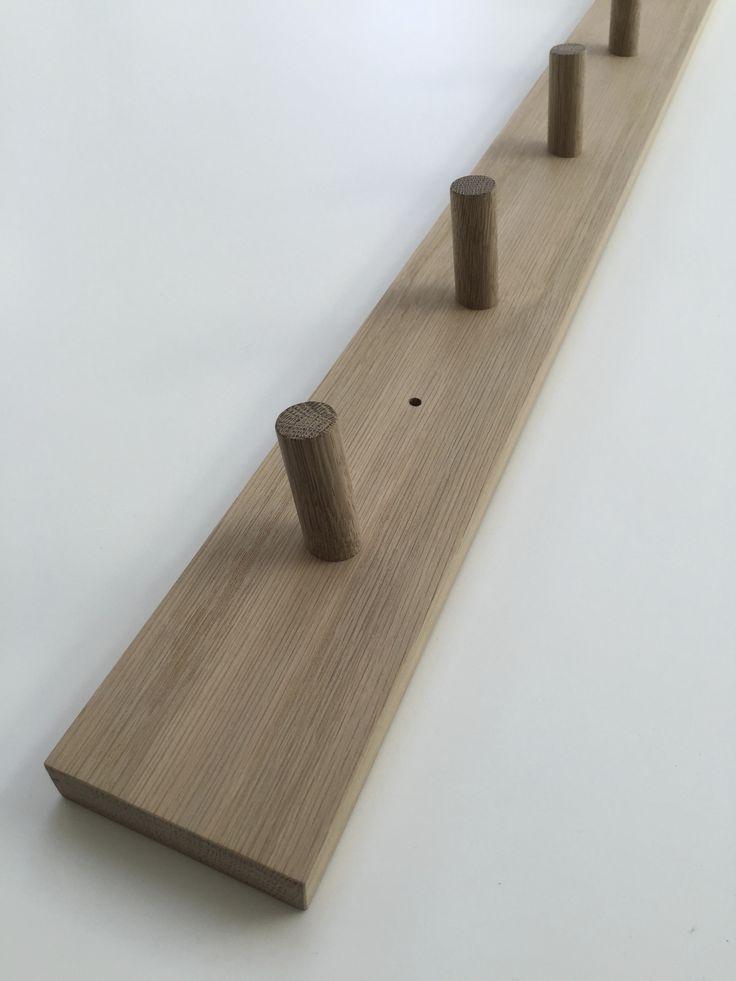 minimal timber coat rack in american oak